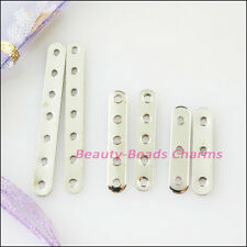 Dull Silver Plated 3-Strand 5-Strand 7-Strand Flat Spacer Bars Connector Finding