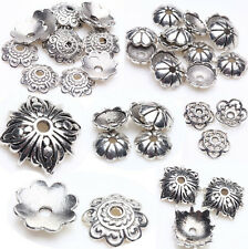 DIY Wholesale Silver Plated Loose Spacer Bead Flower Caps Jewelry Making Finding