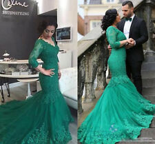 New Mermaid Formal Evening Dresses Lace Bridal Dress Prom Party Celebrity Dress