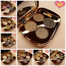 Long Lasting 4 Colors Glitter Shimmer Eyeshadow Palette Eyeshadow With Brush