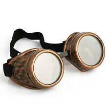 Vintage Victorian Steampunk Goggles Glasses Welding Cyber Punk Gothic Cosplay LW