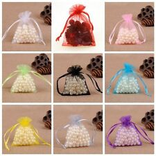 100pc/set Organza Jewelry Candy Pendent Mixed Color Mini Gift Pouch Bags Wedding