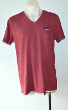 Superdry Mens Printed T- Shirt - PLUM - SIZES - S & L  - NEW