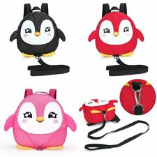 Baby Kids Cute Penguin Style Backpack Walking Safety Harness Tether Strap Belt