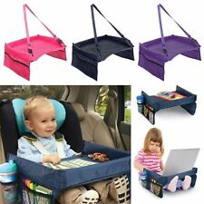 Child Snack Play Tray for Auto Car Seat Plane and Buggy Toddler Portable Travel