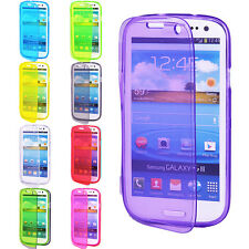 Clear Flip TPU Skin Gel Silicone Case Cover For SAMSUNG GALAXY S3 S III i9300
