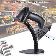 Handheld Wireless 1D Barcode Scanner Reverse Barcode Scanning +Receiver New F7K5