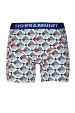 Fisher & Bennet Mens Cotton Stretch Multi-Coloured Checkered Boxer Shorts
