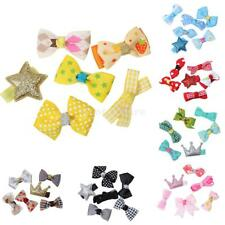 6Pcs/Set Lovely Cute Colorful Baby Girl Bowknot/ Flower Hair Clips Hairpin