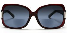 Women's BiFocal Sun Readers Sunglasses Jackie O Red