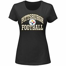 Pittsburgh Steelers Womens Black Tee - New With Tags - MSRP $28 - FREE SHIP!