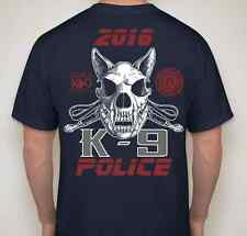 Travis Air Force K9 Trial Military Working Dog & Police Dog Logo T-Shirt Navy