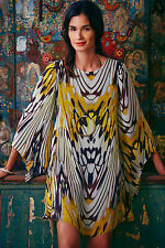Anthropologie Sarita Swing Dress 0-4-8 Silk Swing Bell Sleeve Tunic, Leifsdottir