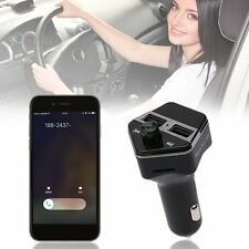 ST06 Car MP3 Player Bluetooth FM Transmitter Wireless HandsFree Call Charger LU