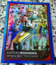 AARON RODGERS 2006 Bowman Chrome Blue Refractor SP 148/150 Packers Superbowl MVP