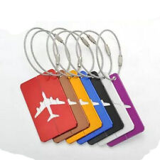 Address Name Baggage Tag  Labels Aluminium Travel Luggage Suitcase New Identity