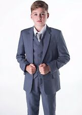 Boys Suits, Grey Boys Wedding Suit, Page Boy Suit, Prom. Formal, Party 5 Piece