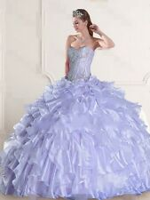 Charming Light Purple Handmade Organza Ball Gown Sweetheart Quinceanera Dresses