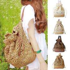 Fashion Womens Casual Shoulder Bag Beach Handbag Holiday Straw Braid Backpack