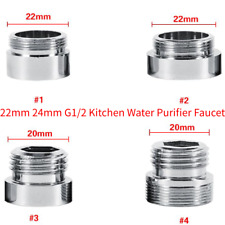 New Solid Metal Adaptor For Water Saving Kitchen Faucet Tap Aerator 24mm to 22mm