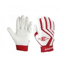 Easton White/Red Typhoon II Youth Batting Gloves (Pair)