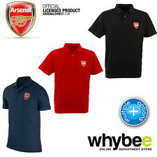 OFFICIAL ARSENAL FC CREST ADULT POLO SHIRT NAVY BLUE, RED & BLACK ALL SIZES BRA