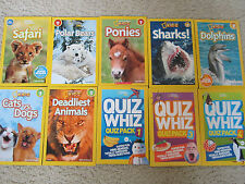 Lot of 10 NATIONAL GEOGRAPHIC KIDS Series Level1-3 Reader Books / Quiz Whiz Pack