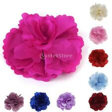 Multicolor Satin Peony Flower Bud Hair Clip for Girl Crochet Headband Wholesale