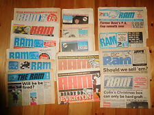 Derby County Newspaper style issue home programmes 1974/75 to 1982/83