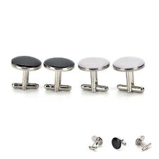 Round Cufflink Mens Shirt Cuff Bottons Enamel Cuff links Fashion Jewelry SPRE