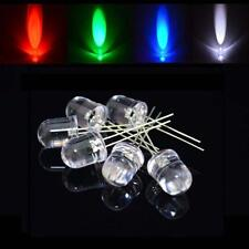 10mm Water Clear LED Diode Warm/White/Red/Orange/Blue/Green/Yellow/UV/Pink Lamp