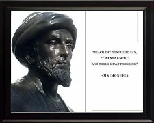 Maimonides Philosopher Photo Picture, Poster or Framed with Featured Quote