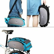 Cycling Bike Bicycle Rear Seat Bag Rack Trunk Saddle Pannier Storage+Rain Cover