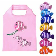 Hot Reusable Folding Shopping Bag Travel Bag Grocery Bags Fish Shopper Tote ES