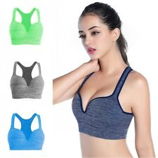 Women Yoga Tank Tops Sports Bras Padded Bra Racerback Fitness Workout Jogging