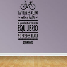 Vinilo Decorativo Para Pared La Vida Montar En Bicicleta Wall Decal (SQ95)