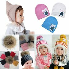 Newborn Infant Toddler Baby Kids Warm Winter Hat Boy Girl Knit Crochet Cap S23