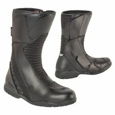 Akito Pathfinder Waterproof Motorcycle Boots Black Touring Motorbike New