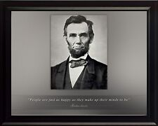 """Abraham Lincoln Photo Picture, Poster or Framed Famous Quote """"People Are Just.."""""""