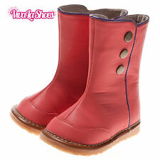 Girls Toddler Childrens Leather Squeaky Boots - Pink