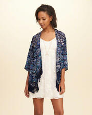 Abercrombie & Fitch - Hollister Womens Kimono Blouse Top Jacket M Navy NWT