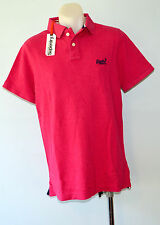 Superdry Mens Polo T - Shirt - PINK - SIZE - XL  - NEW