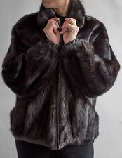 1095 - Natural Female Mink Fur Jacket Reversible to Matching Leather