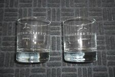 WOODFORD RESERVE KENTUCKY STRAIGHT BOURBON ETCHED ROCKS GLASSES SET OF 2
