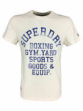 SALE / Mens Size Larg Superdry Boxing Yard Tee T-Shirt in Superdry Ecru White