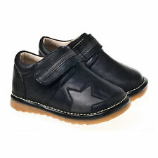 Boys Infant Toddler - Leather Squeaky Shoes Boots - Black / Star
