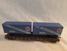 HO Scale Wabash Trailer Transport Car No 40610 W/Trailers