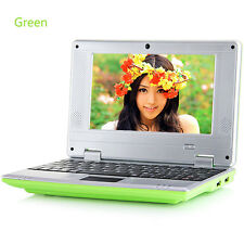 "7"" Android Mini Notebook 4GB/8GB Quad Core Laptop PC Netbook Keyboard WIFI HOT"