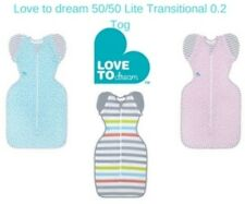 Love to Dream 50/50 LITE Stripe Transitional Swaddle RRP $49.95 now $45.95