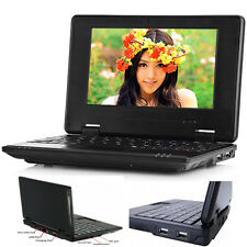 "7"" Android Mini Notebook 4GB/8GB Quad Core Laptop PC Netbook Keyboard WIFI TOP"